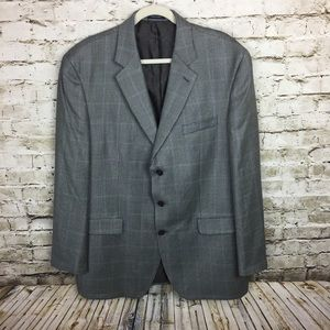 Ralph Lauren wool blend gray plaid blazer